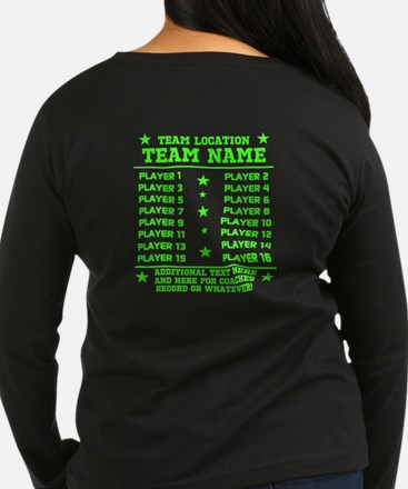 Personalized Your Team Your Text Long Sleeve T-Shi