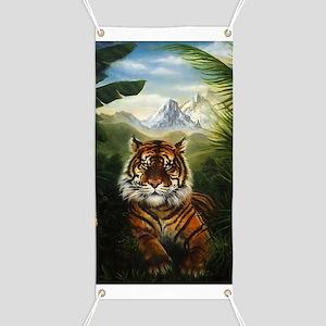 Jungle Tiger Landscape Banner