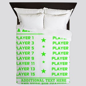 Personalized Your Team Your Text Queen Duvet