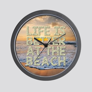 LIFE IS BETTER... Wall Clock