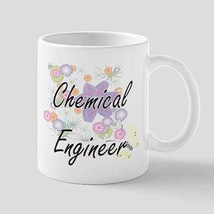 Chemical Engineer Artistic Job Design with Fl Mugs