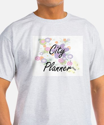 City Planner Artistic Job Design with Flow T-Shirt