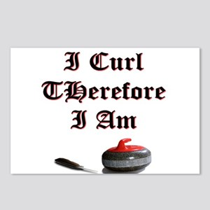 I Curl Therefore I Am Postcards (Package of 8)