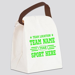 Personalized Your Team Your Text Canvas Lunch Bag
