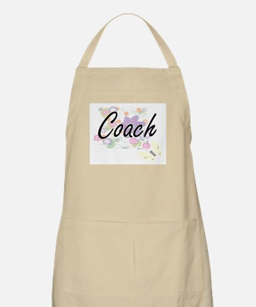 Coach Artistic Job Design with Flowers Apron