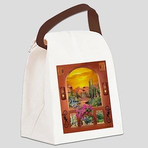 Sonoran Desert Landscape Canvas Lunch Bag