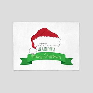 A Merry Christmas 5'x7'Area Rug