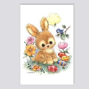 Cute Easter Bunny With Postcards (package Of 8)