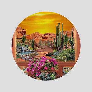 Sonoran Desert Landscape Button