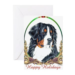 Bernese Mountain Dog Greeting Cards Cafepress