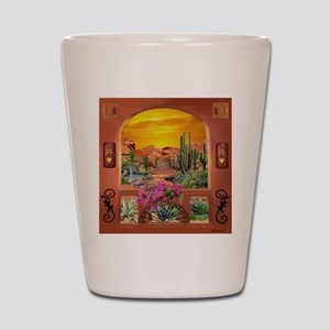 Sonoran Desert Landscape Shot Glass