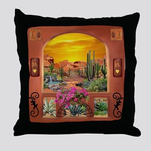 Sonoran Desert Landscape Throw Pillow
