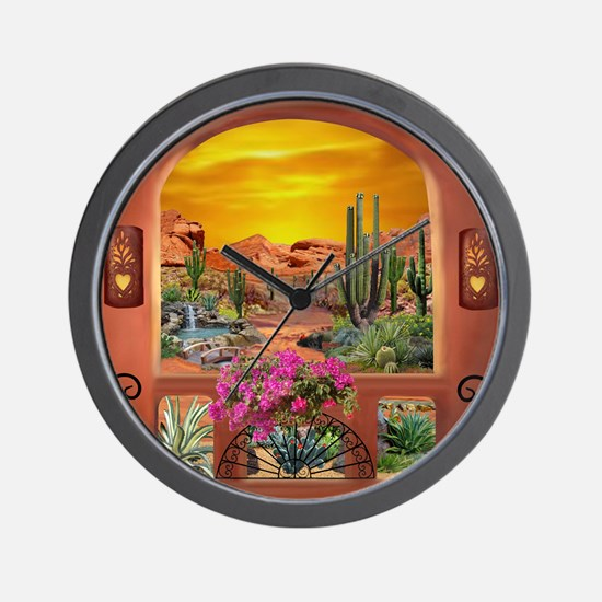 Sonoran Desert Landscape Wall Clock