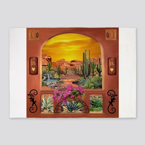 Sonoran Desert Landscape 5'x7'Area Rug