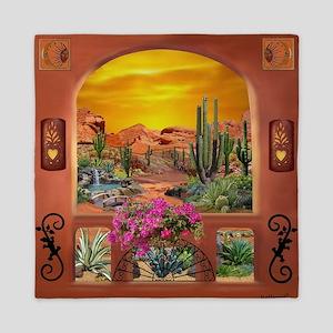 Sonoran Desert Landscape Queen Duvet