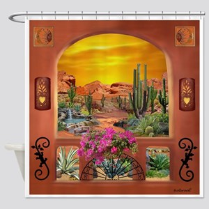 Sonoran Desert Landscape Shower Curtain
