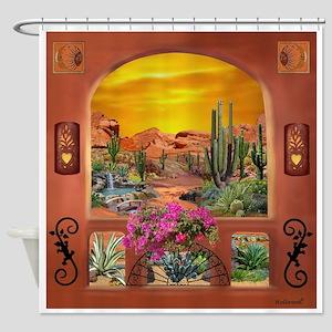 Sonoran Desert Landscape Shower Curtain