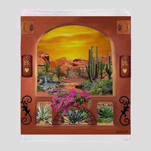 Sonoran Desert Landscape Throw Blanket