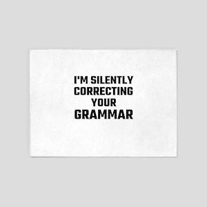 I'm Silently Correcting Your Gramma 5'x7'Area Rug