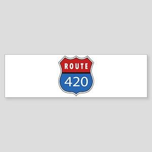 Route 420 Interstate Sign Bumper Sticker