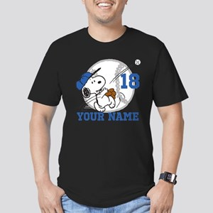 Snoopy Baseball - Pers Men's Fitted T-Shirt (dark)