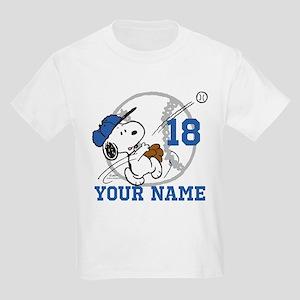 Snoopy Baseball - Personalized Kids Light T-Shirt