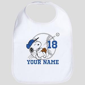 Snoopy Baseball - Personalized Bib