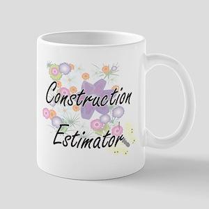 Construction Estimator Artistic Job Design wi Mugs