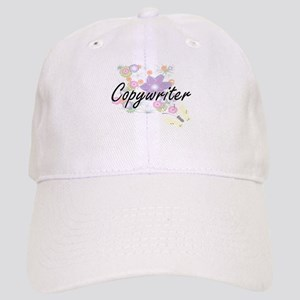 Copywriter Artistic Job Design with Flowers Cap