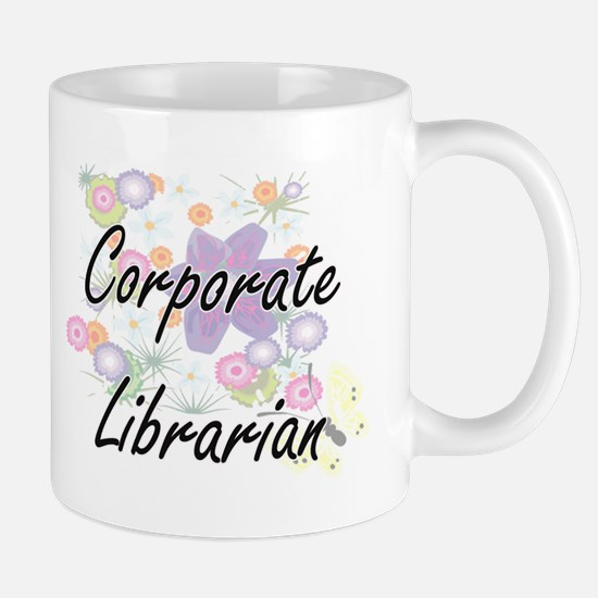 Corporate Librarian Artistic Job Design with Mugs