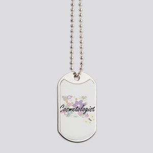 Cosmetologist Artistic Job Design with Fl Dog Tags