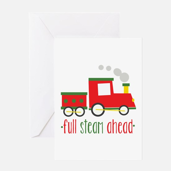 Full Steam Ahead Greeting Cards