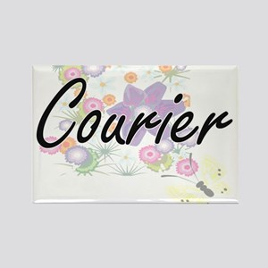 Courier Artistic Job Design with Flowers Magnets