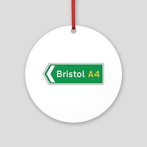 Bristol Roadmarker, UK Ornament (Round)