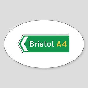 Bristol Roadmarker, UK Oval Sticker