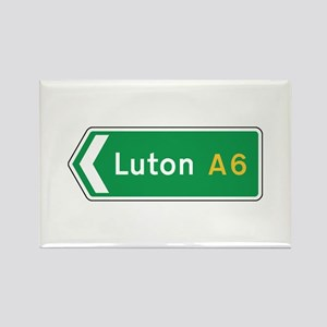 Luton Roadmarker, UK Rectangle Magnet