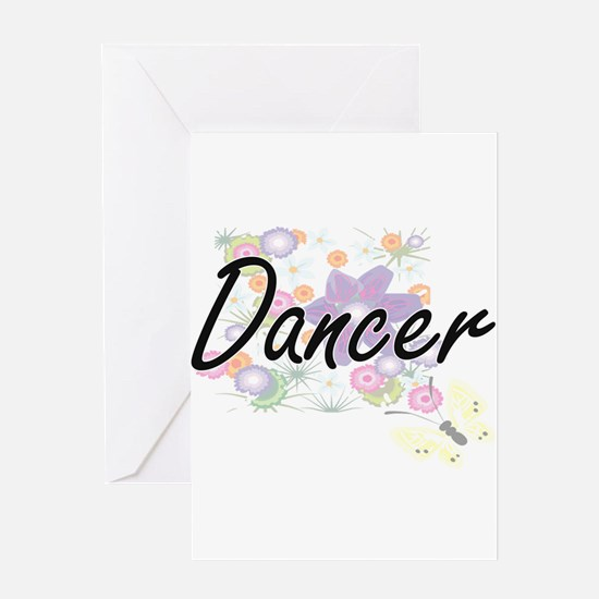 Dancer Artistic Job Design with Flo Greeting Cards
