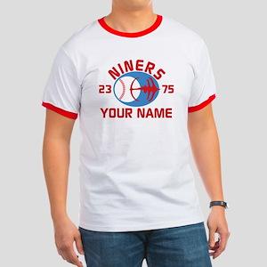 YOUR NAME Niners Baseball Star Trek DS9 T-Shirt