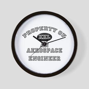 Property of an Aerospace Engineer Wall Clock