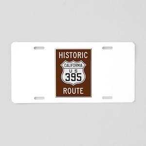 Historic Route 395 Aluminum License Plate