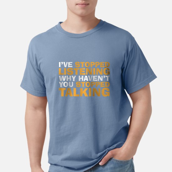 stopped talking Women's Dark T-Shirt