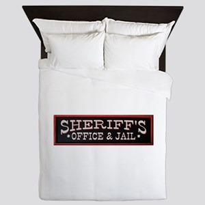 Sheriff's Office Queen Duvet