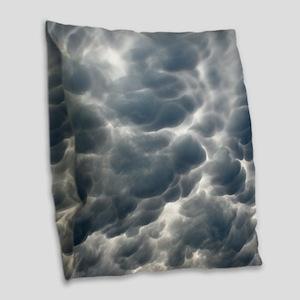 STORM CLOUDS 2 Burlap Throw Pillow