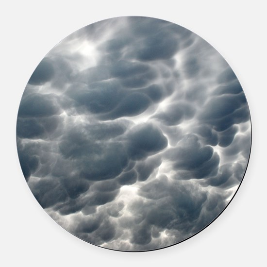 STORM CLOUDS 2 Round Car Magnet