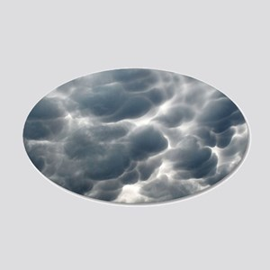 STORM CLOUDS 2 20x12 Oval Wall Decal