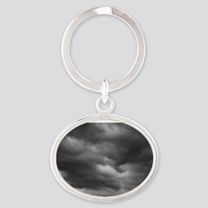 STORM CLOUDS 1 Oval Keychain