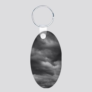 STORM CLOUDS 1 Aluminum Oval Keychain