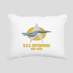 Star Trek Galaxy Class Rectangular Canvas Pillow