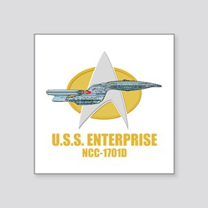 "Star Trek Galaxy Class Square Sticker 3"" x 3"""
