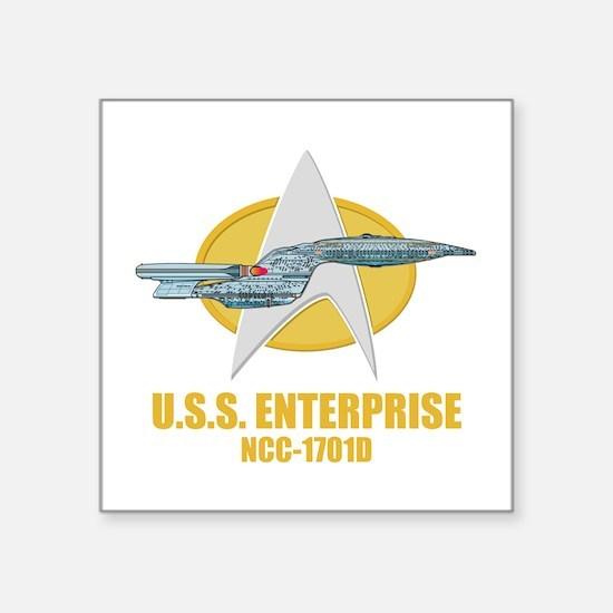 """Star Trek Galaxy Class Square Sticker 3"""" x 3"""""""
